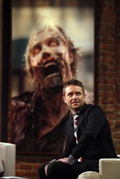 "Chris Hardwick hosts the live talk show ""The Talking Dead"" on March 17, 2013. The talk show follows each airing of ""The Walking Dead."" (Katie Falkenberg/Los Angeles Times/MCT)"