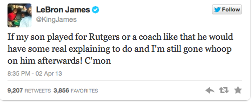 Lebron James weighs in on the matter.