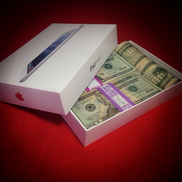 Today I found this in my iPad Mini box, and I don't even want the cash.