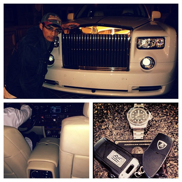 Solid Gold Rolls Royce grill hoe. #repost cause i look hella sexy