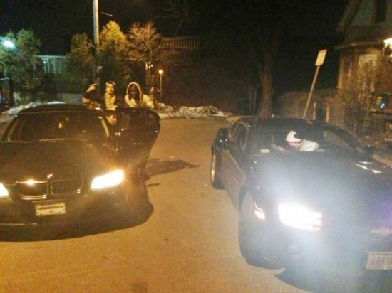 Twitter image of the BMW Dias Kadyrbayev, Azamat Tazhayako and Dzhokhar Tsarnaev cruised around in.
