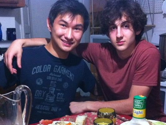 Dzhokhar Tsarnaev, right, and Dias Kadyrbayev, taken from VK.com