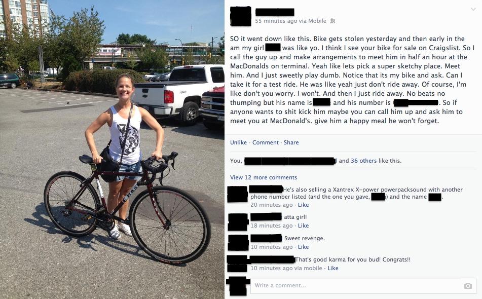 Bikes Craigslist Vermont bike thief thief