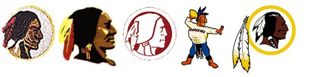 Not a very flattering logo legacy (Redskins logos 1937-present courtesy SportsLogos.net)