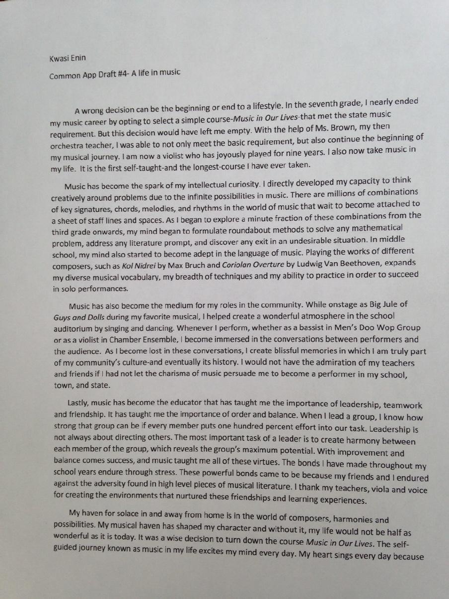 Ivy League College Application Essays