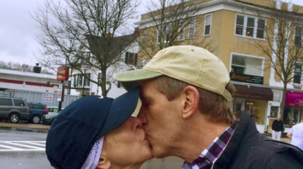 Boston Marathon Mystery Kiss